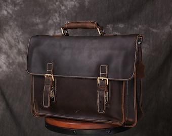 fab3bf0abb65 Handmade Leather Messenger Bags for Men Women Mens Briefcase Handbag Men  Leather Shoulder Bag School Laptop Bag Leather Satchel Best Gift