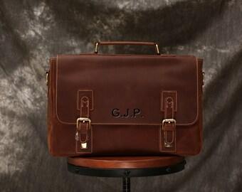 08bb6319d Full Grain Leather Messenger Bag, 15 Inch Leather Briefcase, Shoulder Bag  Men, Distressed Leather Laptop Bag, Personalized Leather Satchel
