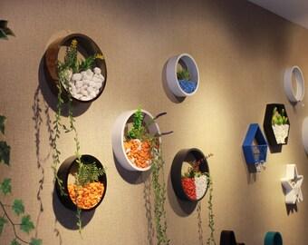 Mini wall garden, (25 PIECES), wall vase, wall garden planters, hanging metal terrarium, wall garden, New trend wall planter, flowers pot