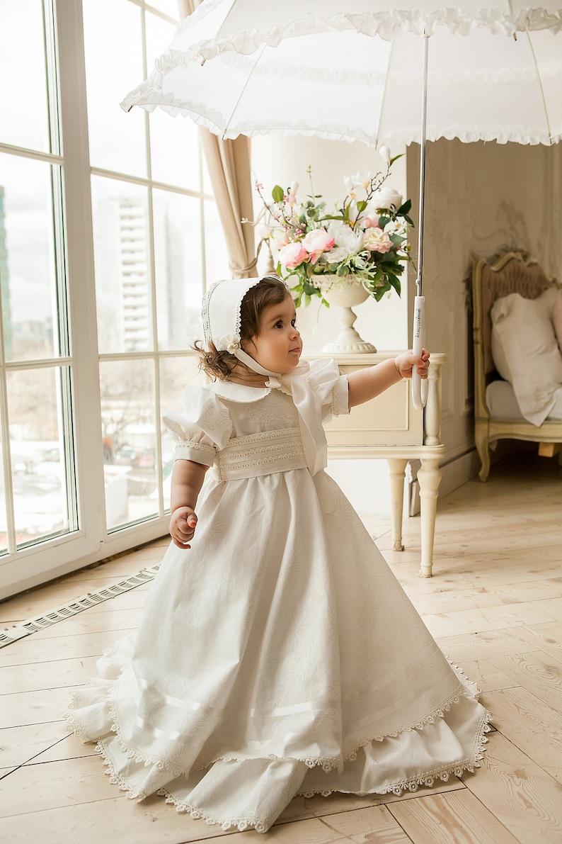 017251a8431f8 Christening set, Baptism set, Baptism dress, Baptism hat, Christening  dress, Christening hat, Christening bonnet, Scarlett - Vayma Atelier