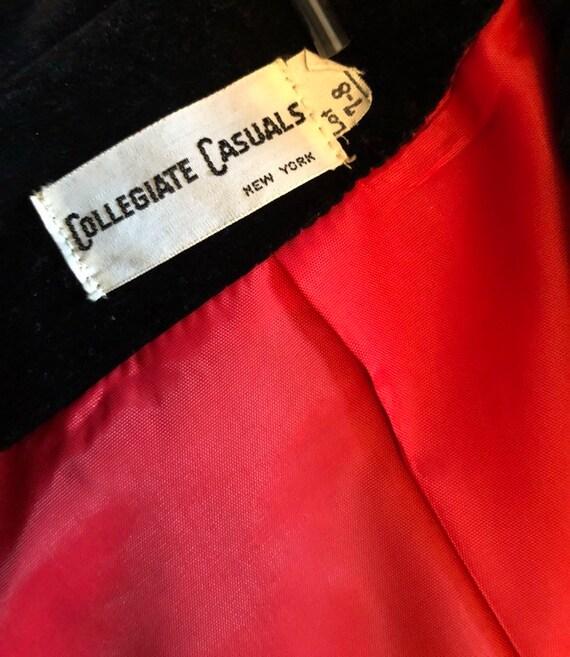 70s black velvet blazer, COLLEGIATE CASUALS, ladi… - image 6
