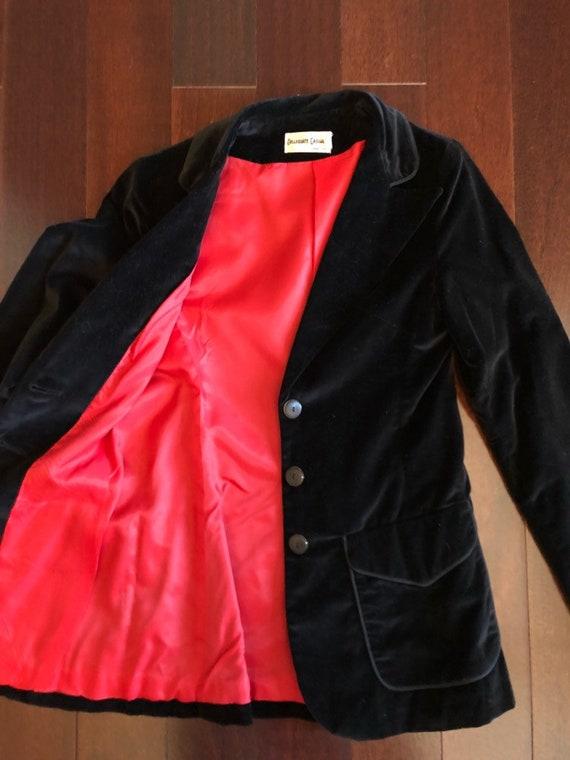 70s black velvet blazer, COLLEGIATE CASUALS, ladi… - image 5