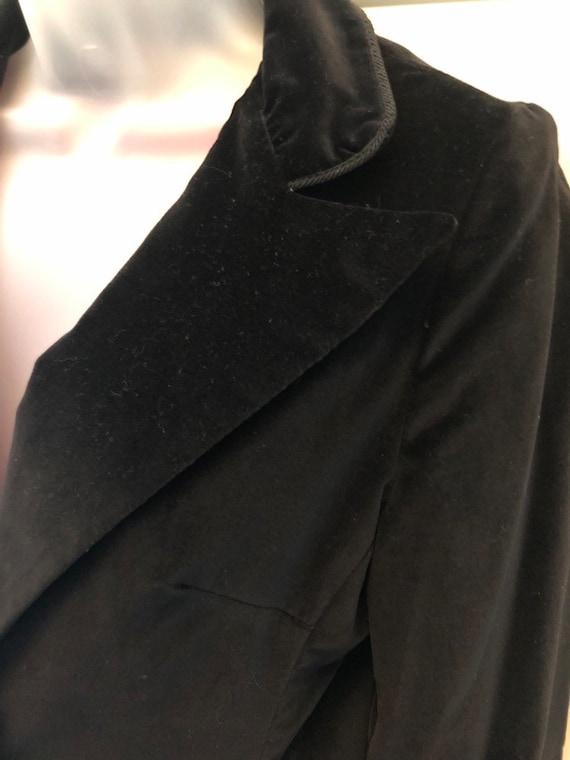 70s black velvet blazer, COLLEGIATE CASUALS, ladi… - image 3