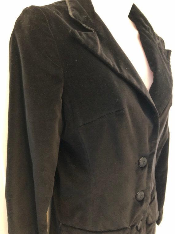 70s black velvet blazer, COLLEGIATE CASUALS, ladi… - image 8
