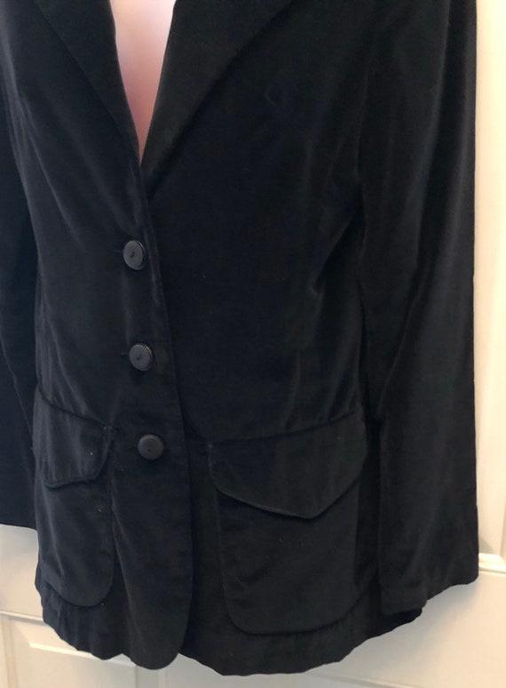 70s black velvet blazer, COLLEGIATE CASUALS, ladi… - image 4