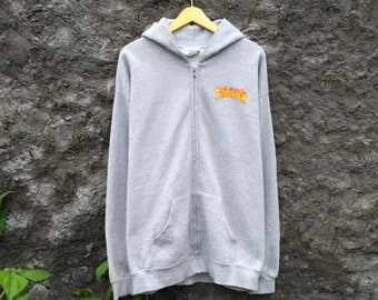 Vintage 90s Thrasher Zipper Hoodie by Lee Heavyweight 758defb253