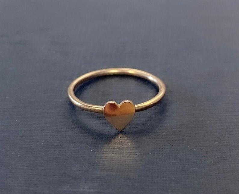 Heart Ring Silver Dainty Love Ring Minimalist Heart Ring 925 Sterling Silver Heart Jewelry Tiny Silver Heart Ring Dainty Silver Ring