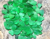 30 pieces of surf tumbled sea glass Greens Naturally surf tumbled by the ocean