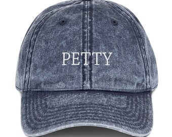 138fb92957c Petty Embroidered Dad Hat Vintage Cotton Twill Cap