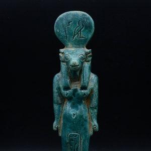 Unique statue of Egyptian art goddess Hathor dark stone large 12/'/' made in Egypt