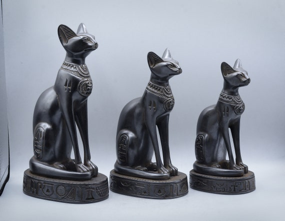 NEW EGYPTIAN FIGURES KING TUT CLEOPATRA SPHINX CAT GODDESS STATUES  4 STYLES