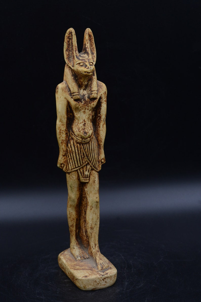Vintage Egyptian God Anubis antique statue - made in egypt