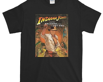 090d8c106fb4 Classic 80s Adventure Indiana Jones RAIDERS Of The Lost Ark Movie Poster  Short-Sleeve T-Shirt