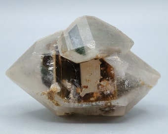 Double Terminated Quartz with Inclusions