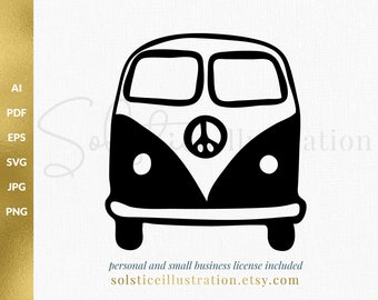 Vw Bus Clipart Etsy