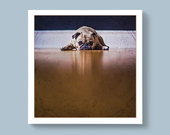 Puppy Pug Breed of Dog, Blank or Personalised Message For Special Ones