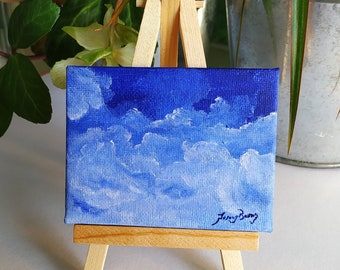 Layers of happiness, original acrylic skyscape painting