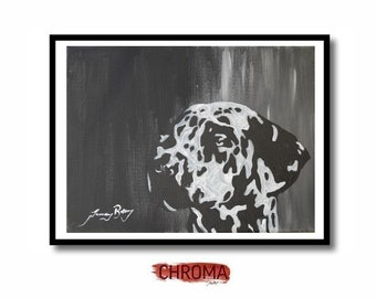 Dalmatian original acrylic pet portrait painting