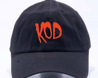 9c03e571 J. Cole KOD Hat Dreamville Unstructured Black Dad Hat Adult Cap One Size  Adjustable