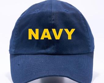 US Navy Hat United States Navy Unstructured Navy Blue Dad Hat Adult Cap One  Size Adjustable c0ec9ed6882c