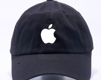 5c399fb3 Apple Logo Hat Mac iPhone iPad Unstructured Black Dad Hat Adult Cap One  Size Adjustable