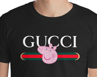 736ae0b82e066 Peppa Pig Shirt Inspired by Gucci Parody Funny Gucci Peppa Pig Birthday  Shirt Peppa Gucci shirt Funny Fans Personalized Peppa Pig Shirt