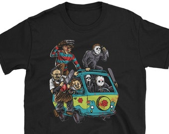 20217129 The Massacre Machine Horror Cool T-shirt Men's & Women's Funny Movie  Halloween T-Shirt Massacre Mystery Machine T-Shirt Costume Unisex Adult