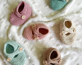 Knitted baby booties/Knitted cotton booties/Brown knitted booties/Knit baby booties/Newborn gift/Pregnancy gift/