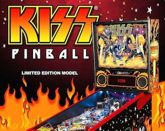 09d901c5e1f56d KISS Pinball Game Flyer 2015 Original NOS Ready To Frame Promo Color  Artwork Sheet Limited Edition Model Glam Rock And Roll Music Theme Rare