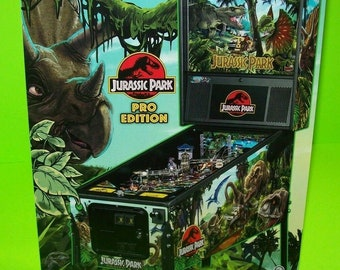 Jurassic Park Limited Edition Pinball FLYER Original Stern Game Dinosaur Artwork