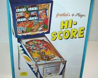 Gottlieb Gold Wings Pinball Machine Sales FLYER 1986 Original NOS Flipper Game