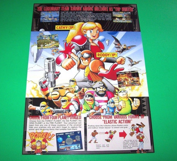 GigaWing Arcade FLYER 1999 Original NOS Video Game Space Shooter Artwork Capcom