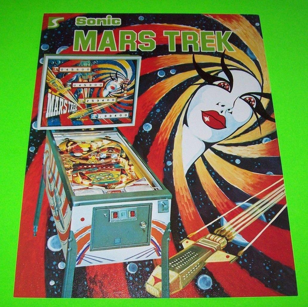 good original Rare Williams flyer for  REVENGE FROM MARS Pinball 2000 flyer