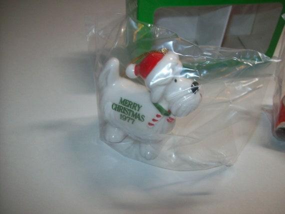 Dennis The Menace Christmas Ornaments Set 1977 Porcelain Japan NOS In Box Of 2