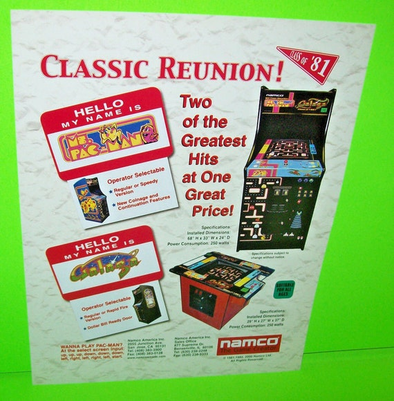 Ms PacMan FLYER Midway 1982 Original NOS Video Game Artwork Sheet Great Gift