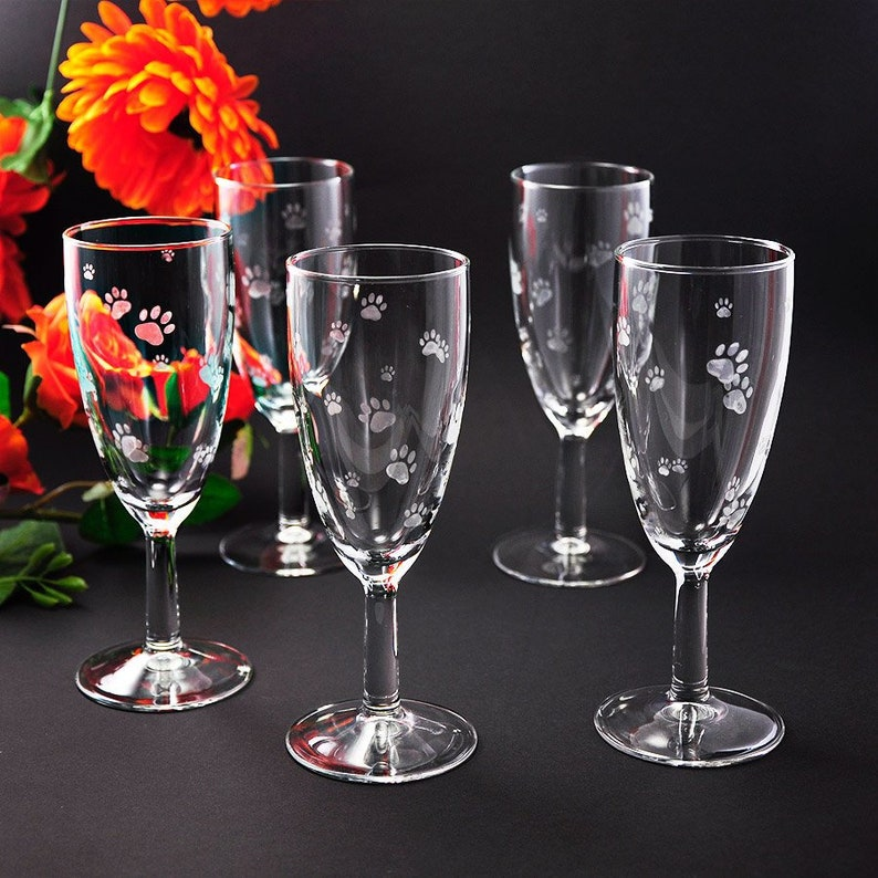Champagne glass pawnbons 145 ml capacity animal image 0