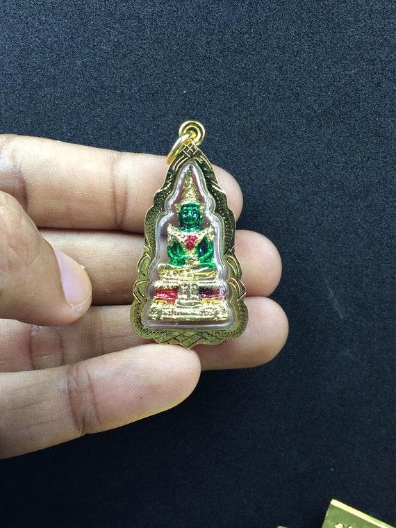 Perfec Gold  Pendant  Lp Toh Thai Amulet Buddha Wealthy Fortune Success Talisman