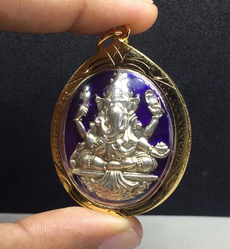 Buddha Pendant Lord Ganesha God Of Hindu Elephant Pendant PURPLE Edition Wealth Good luck Fortune Talisman