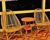Rattan chair Wicker chair porch Lounge beach Arm chair Balcony Sunroom Patio Armchair Wicker Furniture