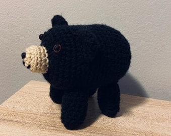 Baby Animals Black Bear Cub Annies Attic Crochet Pattern Leaflet