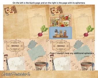 Collage Supplies Lot 200 Plus Vintage Book Pages Collages Arts Crafts Ephemera Maps #133 Crafts