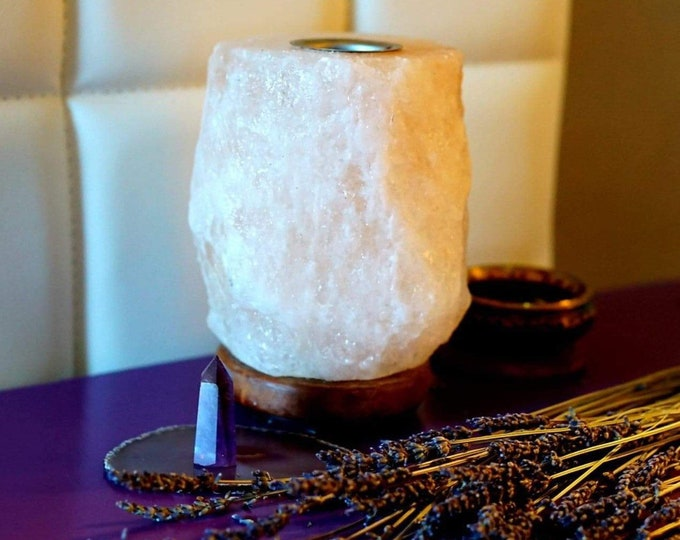 Himalayan Salt Lamp with Oil Burner