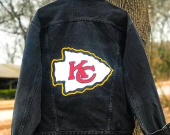 8b7599378bf Hand painted Kansas City chiefs jacket