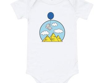 Ancient Egyptian Ankh Golden Toddler Baby Girls Short Sleeve Ruffle T-Shirt