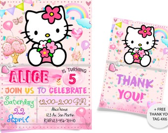 HELLO KITTY Invitation Hello Kitty Birthday
