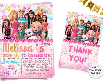 Barbie Dreamhouse Invitation Birthday Invitations Printable