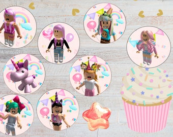 Roblox Meep Personalized Edible Print Premium Cake Topper Frosting Sheet 5 Size