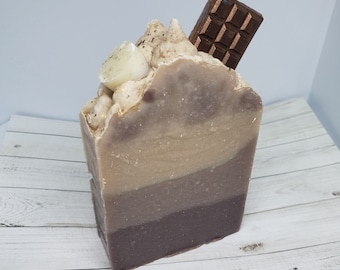 Summer Gooey Camp Fire Snack S'more Themed Artisan Handcrafted Cold Process Bar Soap
