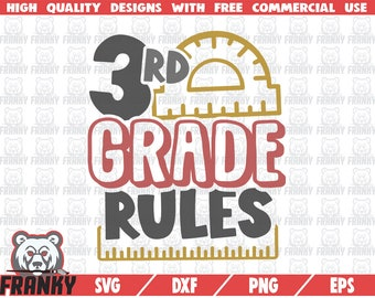 I/'m ready to rule Third Grade School Shirt SVG File for Cutting Machines like Silhouette Cameo and Cricut Commercial Use Digital Design