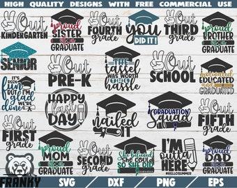 Graduation Squad Svg Etsy